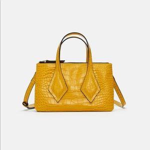 Zara Mini Bag • Yellow Embossed